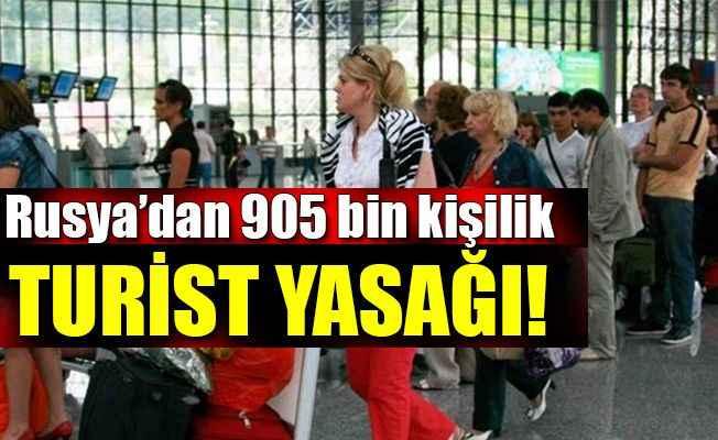 Rusya'dan Türkiye'ye 905 bin kişiyi kapsayan turist yasağı