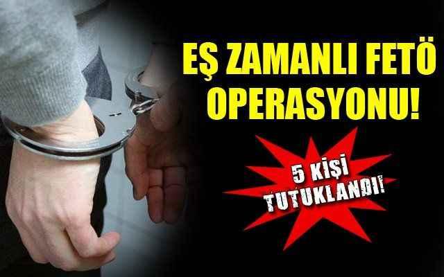 Antalya'da FETÖ/PDY operasyonu! 5 tutuklama