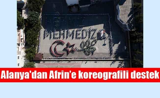 Alanya'dan Afrin'e koreografili destek