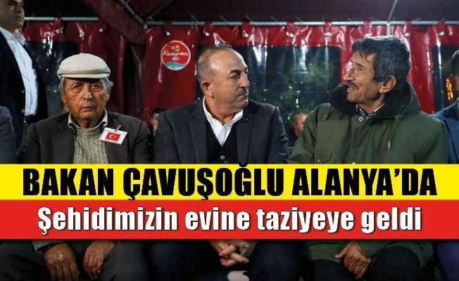 Bakan Çavuşoğlu'ndan şehidin Alanya'daki evine ziyaret