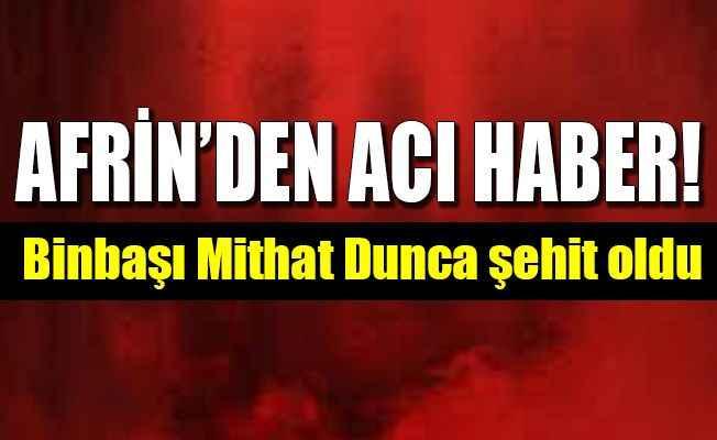 Zeytin Dalı Harekatı'ndan çok acı haber! Bir askerimiz şehit oldu