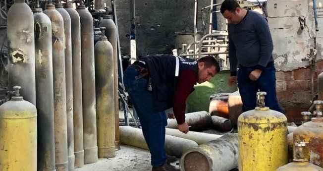 Gaz fabrikasında feci patlama: 1 işçinin elleri ve yüzü yandı
