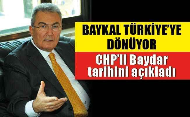 Deniz Baykal'ın Türkiye'ye dönüş tarihi açıklandı