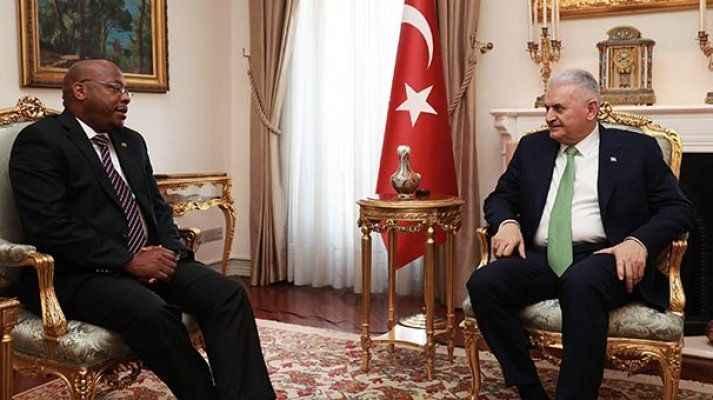 Başbakan Yıldırım'ın Makgothi'yi kabulü