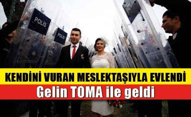 Antalya'da polis kendini vuran meslektaşıyla evlendi