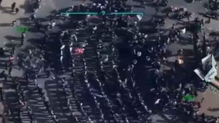 """""""Türk ordusu bizi de kurtarsın"""" diyen Tel Rıfat halkı havadan görüntülendi"""