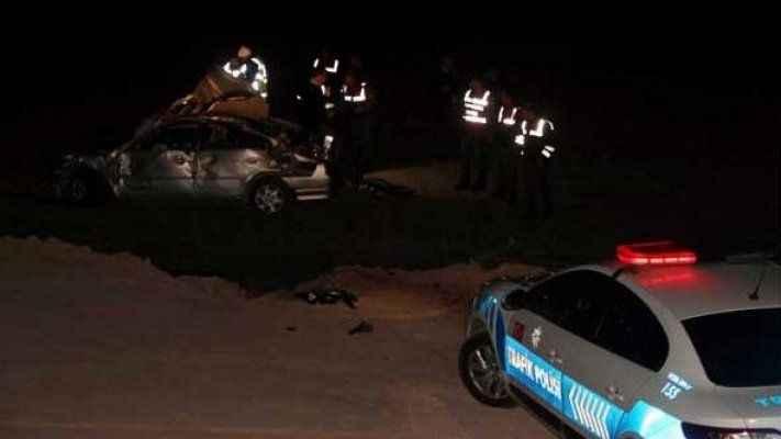 Polis ve askerlerin aracı şarampole yuvarlandı! Acı haber gece yarısı geldi