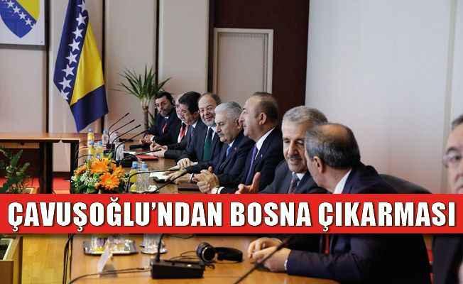 Bakan Çavuşoğlu Bosna Hersek'te