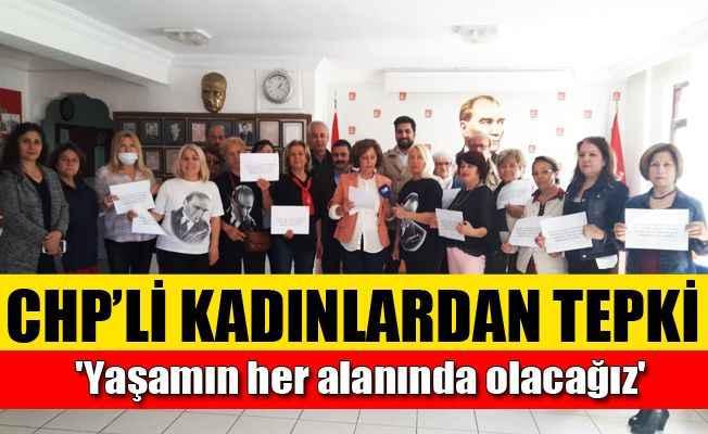 CHP'li kadınlardan sahne tepkisi
