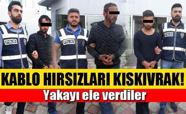 Antalya'da yeraltı kablo hırsızları yakalandı