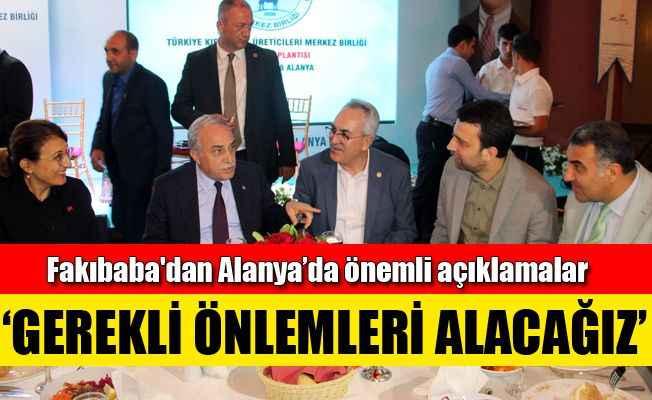 Bakan Fakıbaba Alanya'da et üreticileri ile buluştu