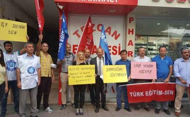 Antalya'da öğretmenler isyan etti
