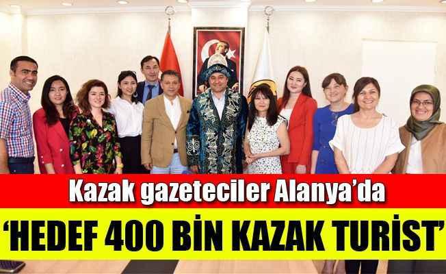 Kazak gazetecilerden Başkan Yücel'e ziyaret