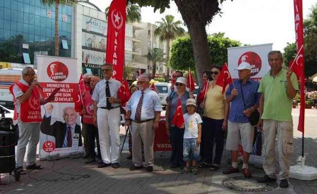 Vatan Partisi vekil adaylarını tanıttı