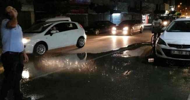 Sadece 5 metrelik alana yağmur yağdı