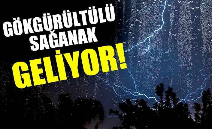 Antalya için gökgürültülü sağanak yağış uyarısı