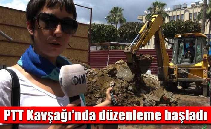 Alanya'da PTT Kavşağı'nda düzenleme başladı