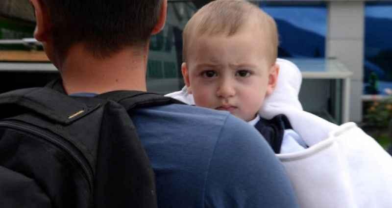 Minik Kerem, 1 yaşında babasızlığın ağır yükünü omuzladı