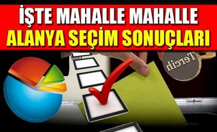 24 Haziran Alanya Seçim Sonuçları | Alanya ilçe, belde ve mahalleleri'nin seçim sonuçları anlık burada yer alacak