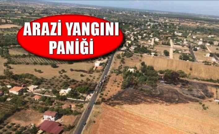 Antalya'da arazide yangın paniği