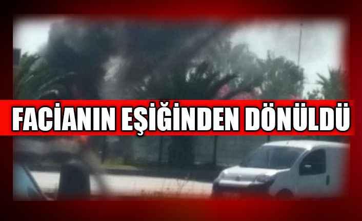 Alanya'da alev alan tanker trafiği kilitledi