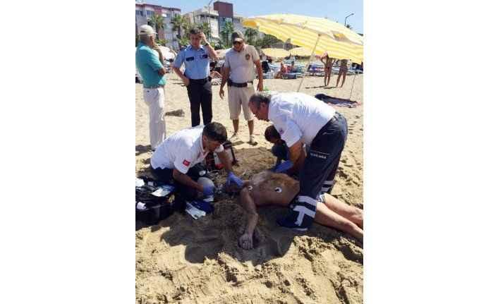 Antalya'da denize giren Rus turist boğuldu