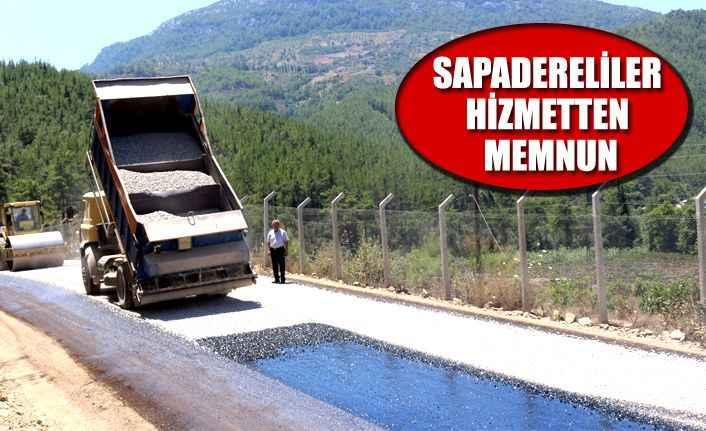 Sapadere'nin yol sorunu çözüldü