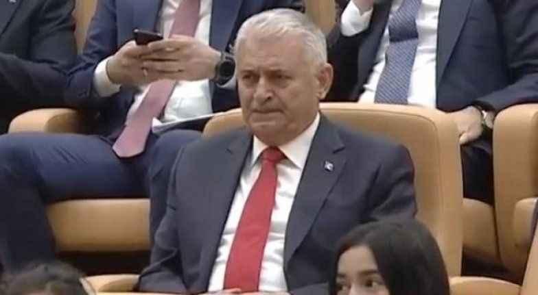 Başkan Erdoğan konuşurken Binali Yıldırım gözyaşlarına boğuldu