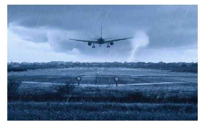 Alanya GZP'de THY uçağı havada 3 tur atıp inebildi
