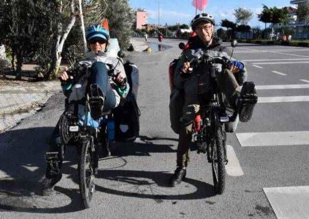 Bisikletle dünya turuna çıkan çift Demre'ye geldi