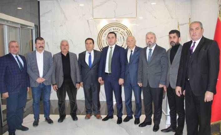 Oda başkanları ziyaret turunda