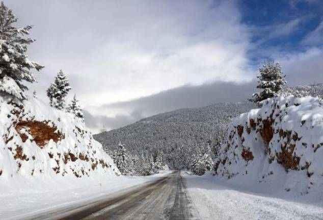 Akseki'de kış manzaraları