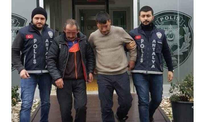 Antalya'da akü hırsızları kaçamadı