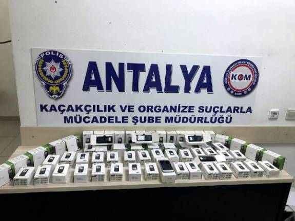 Antalya'da kaçakçılık operasyonu
