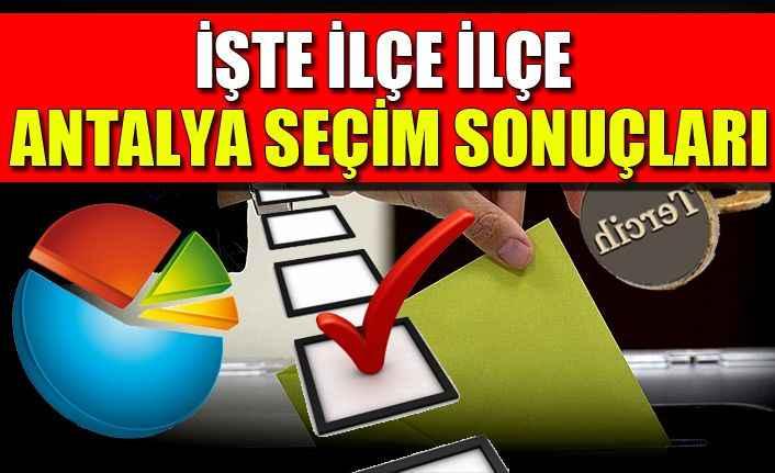Antalya Seçim Sonuçları - 31 Mart 2019 Yerel Seçimleri