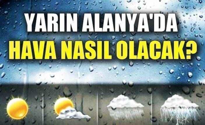 Alanya - Antalya Hava Durumu (31 Mart 2019)