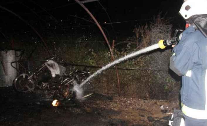 Gazipaşa'da yangın paniği! Garaj cayır cayır yandı