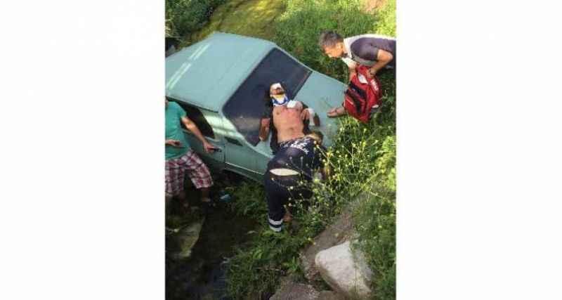 Antalya'da korkunç kaza! Aracıyla su kanalına düşen sürücü yaralandı