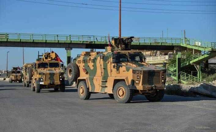TSK konvoyundan, İdlib'de devriye