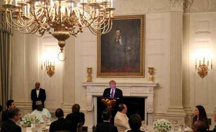 Trump Beyaz Saray'da iftar verdi