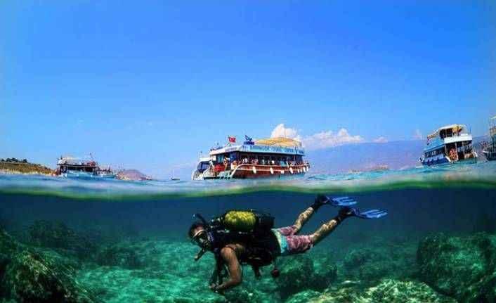 Dalış turizmi sezonu açıldı! İşte Antalya'daki dalış yerleri