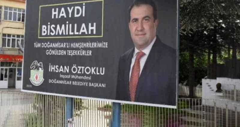 İşte MHP'li başkanının öldürülmesine neden olan afiş!
