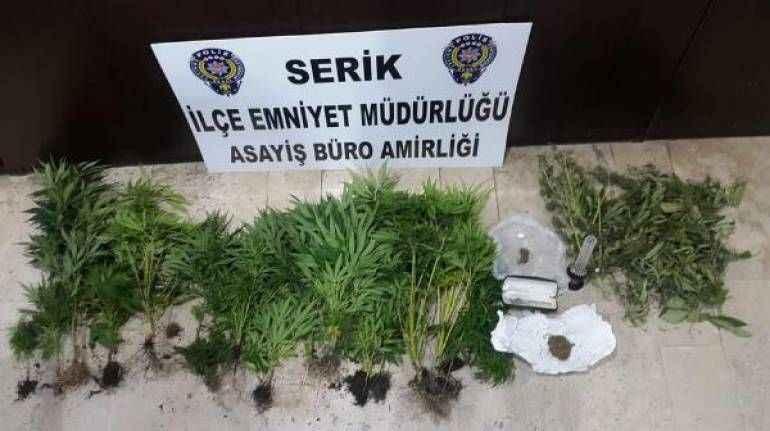 Antalya'da balkonda uyuşturucuya 1 tutuklama