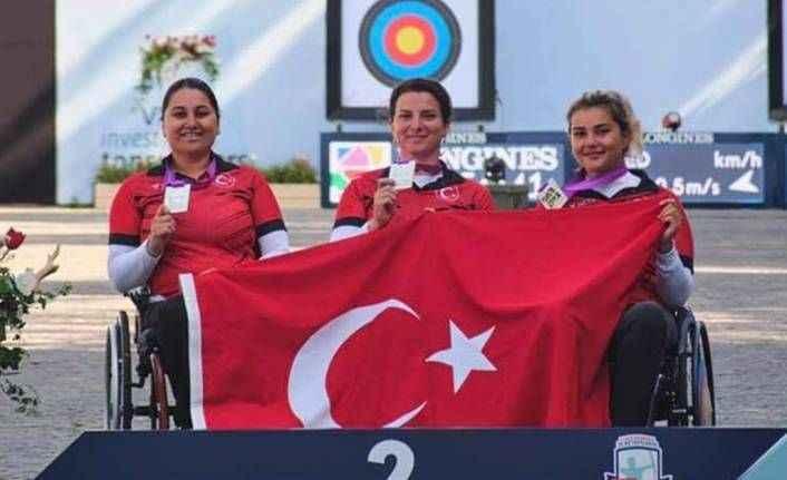 Paralimpik okçular dünya ikincisi oldu