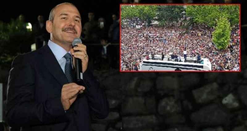 """Soylu, İmamoğlu'nun Trabzon mitingine """"Photoshop"""" dedi"""