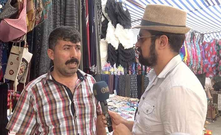Alanya'da pazar esnafı dertli! 'Turist para harcamıyor'
