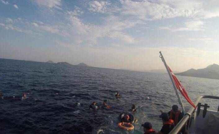 Bodrum'da kaçakları taşıyan tekne battı: 31 kişi kurtarıldı, 12 kişi öldü