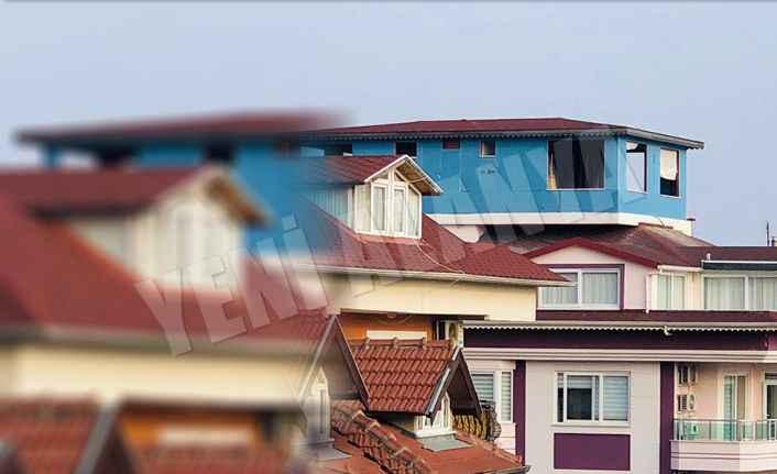 Alanya'da çatı üstü gecekondu