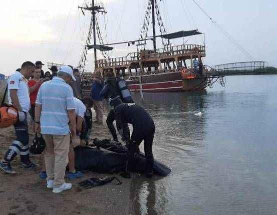Manavgat'ta tekneden düştüğü ırmakta öldü