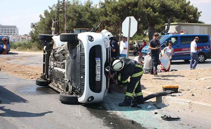 Alanya yolunda feci kaza: 1'i çocuk, 7 yaralı